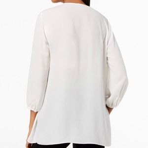 JM Collection Tops - JM Collection Embroidered Blouson Top